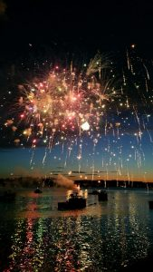 Fireworks over Boothbay Harbor